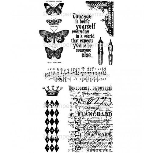 Tim Holtz Cling Stamps - Butterfly Melange