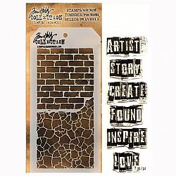 Tim Holtz Stamp and Stencil Set - The Artist