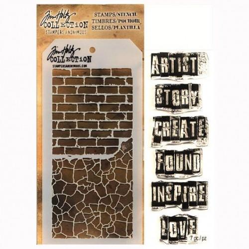 Tim Holtz Stamp and Stencil Set - The Artist