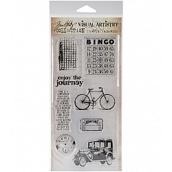 Tim Holtz Visual Artistry Clear Stamps - Playful Journey