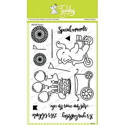 Tubby Photopolymer Clear Stamps - Adorable runner