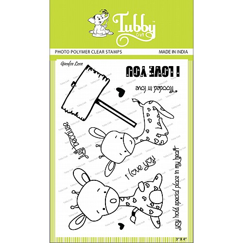 Tubby Photopolymer Clear Stamps - Giraffe love