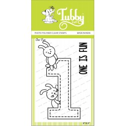 Tubby Photopolymer Clear Stamps - One fun
