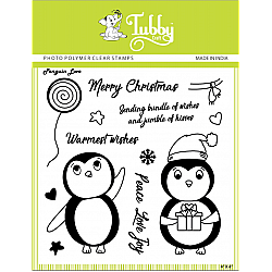 Tubby Photopolymer Clear Stamps - Penguin love
