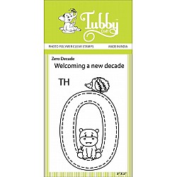 Tubby Photopolymer Clear Stamps - Zero Decade