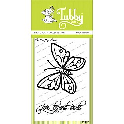 Tubby Photopolymer Clear Stamps - Butterfly Love