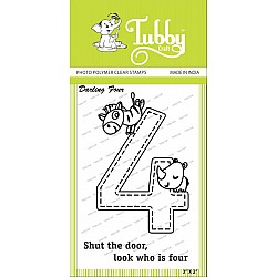 Tubby Photopolymer Clear Stamps - Darling four