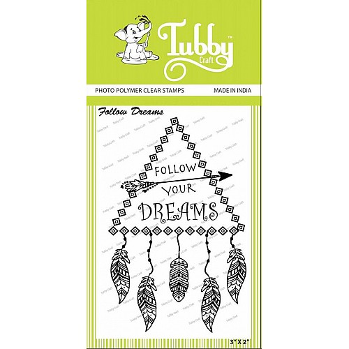 Tubby Photopolymer Clear Stamps - Follow dreams