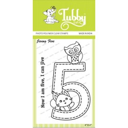 Tubby Photopolymer Clear Stamps - Jiving five