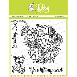 Tubby Photopolymer Clear Stamps - Lifting up balloon