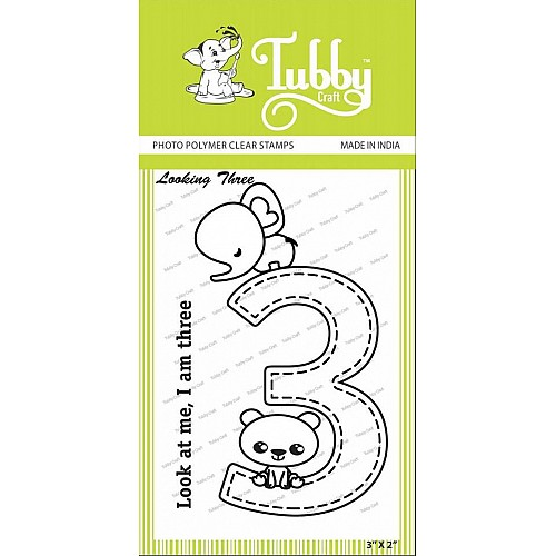 Tubby Photopolymer Clear Stamps - Looking three