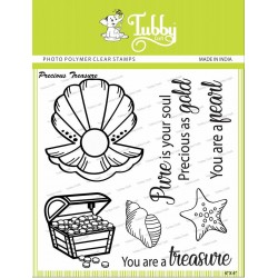 Tubby Photopolymer Clear Stamps - Precious treasure