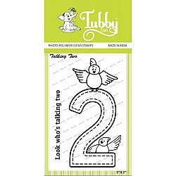 Tubby Photopolymer Clear Stamps - Talking two