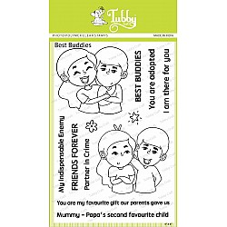 Tubby Photopolymer Clear Stamps - Best Buddies