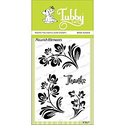 Tubby Photopolymer Clear Stamps - Flourish Elements