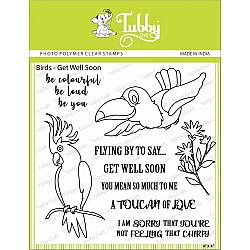 Tubby Photopolymer Clear Stamps - Bird Get Well Soon