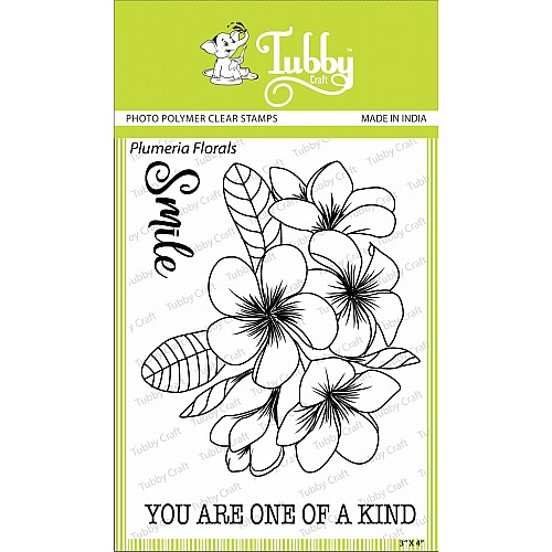 Tubby Photopolymer Clear Stamps - Plumeria Florals