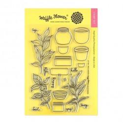 Waffle Flower Stamp Set - Spice Garden