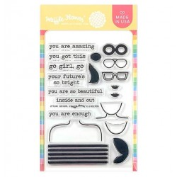 """Waffle Flower Crafts Clear Stamps 4""""X6"""" - Go Girl"""