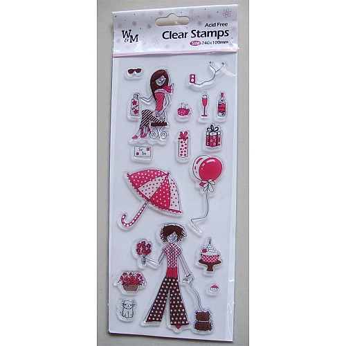 W&M Clear Stamps - Girl Stamp