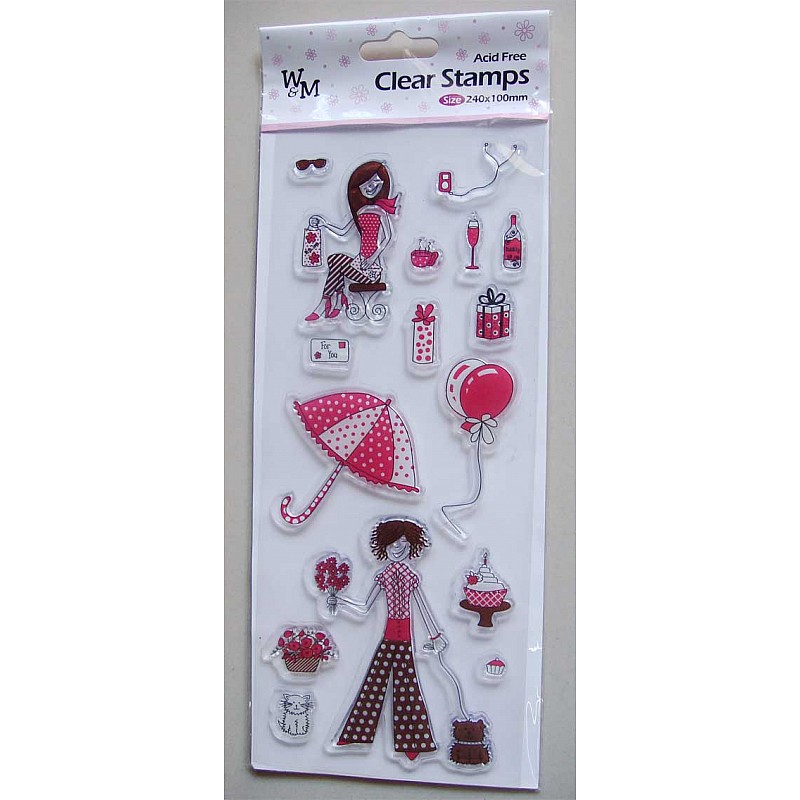 Buy W Amp M Clear Stamps Girl Stamp Online In India At Best