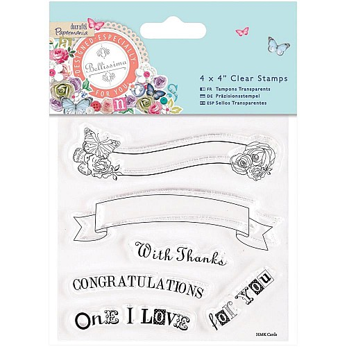 Papermania Bellissima Clear Stamp
