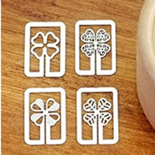 Metal Bookmarks - Floral Pattern (4 ps)