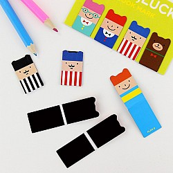 Magnetic Bookmark - Cute Faces (Set of 4)