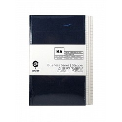 Artrex 80 gsm B5 3 - Section Stepper Notebook (Business Series)