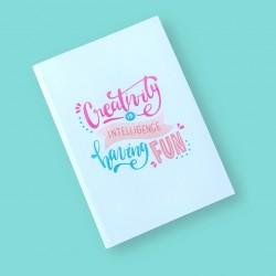 CrafTangles A5 120 gsm Notebook / Diary - Creativity is Intelligence having Fun