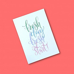 CrafTangles A5 120 gsm Notebook / Diary - Fresh Day Fresh Start