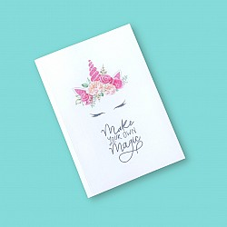 CrafTangles A5 120 gsm Notebook / Diary - Be a Unicorn