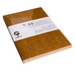 Artrex 80 gsm A5 kraft Notebooks - Pack of 2 (Eco Series)