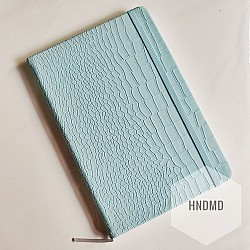 Hardbound Notebooks or Diary (5.5 by 8 inch) - Leather Effect - Baby Blue