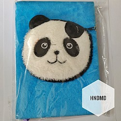 Fur Diary with pouch - Panda