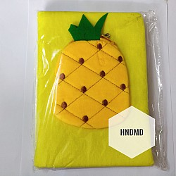 Fur Diary with pouch - Pineapple