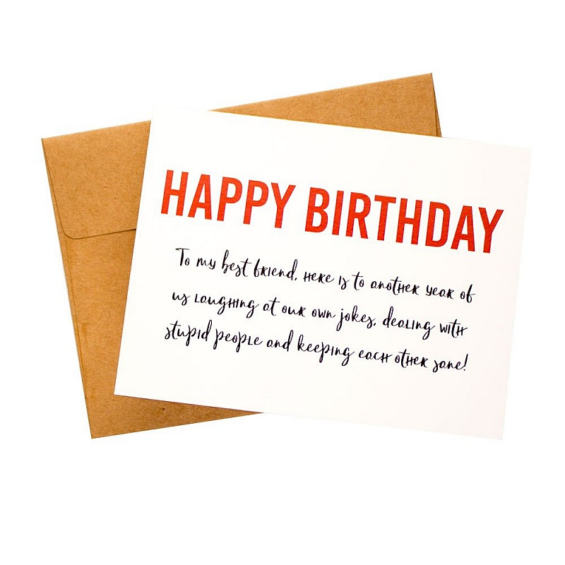 Best Friend Birthday Wishes Printed Greeting Card