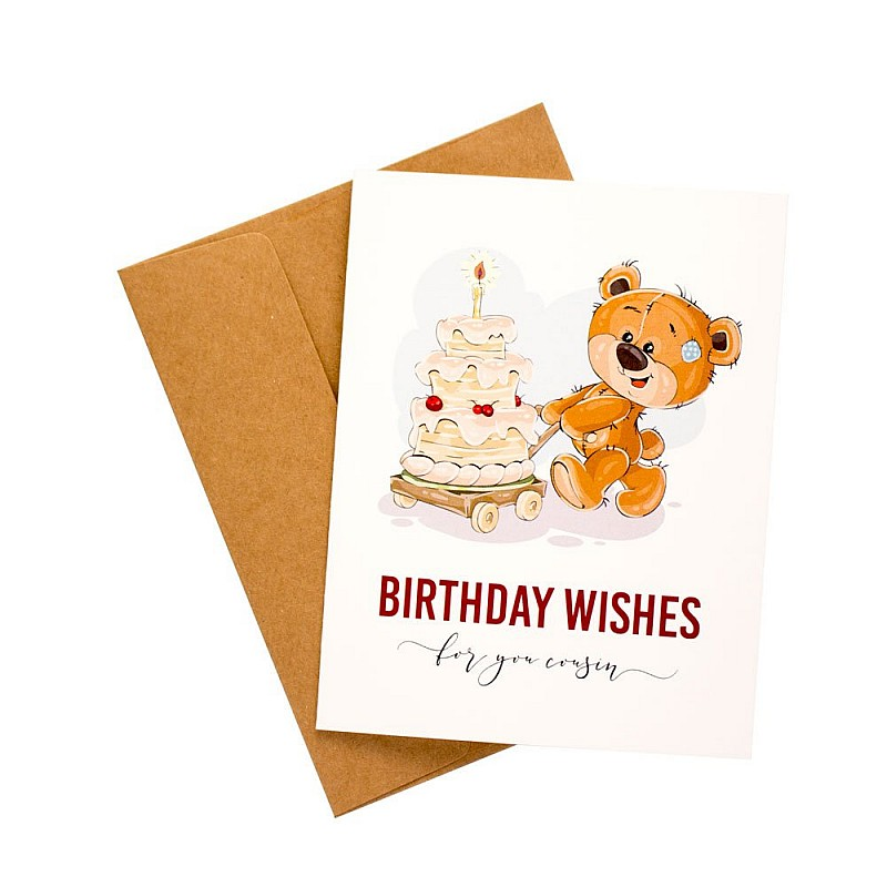 Birthday Wishes For You Cousin Printed Greeting Card