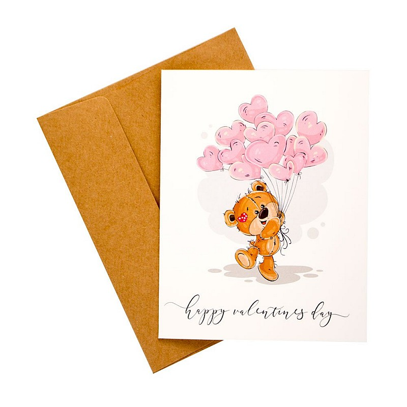 Buy valentines day card with balloon printed greeting card online in valentines day card with balloon printed greeting card m4hsunfo