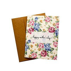 Floral Mothers Day printed Greeting Card