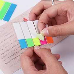 Sticky Notes or Memo Pads - Rainbow Colors with Grey