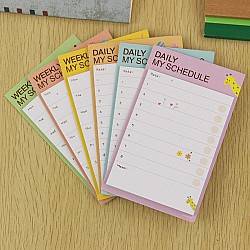 Sticky Notes or Memo Pads - Daily and Weekly schedule