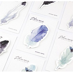 Sticky Notes or Memo Pads - Watercolor Feathers