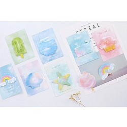 Sticky Notes or Memo Pads - Watercolor Summer fun