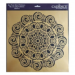 Cadence 35 by 35 cm stencil - Lace (YDS-003)
