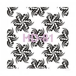Cadence 45 by 45 cm stencil - Sunburst Flowers