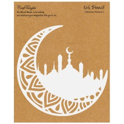 """CrafTangles 6""""x6"""" Stencil - Ramzan Kareem"""