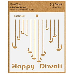 "CrafTangles 6""x6"" Stencil - Diwali Lights"