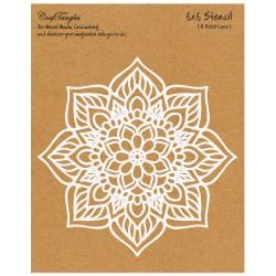"""CrafTangles 6""""x6"""" Stencil - 8 petal Lace"""