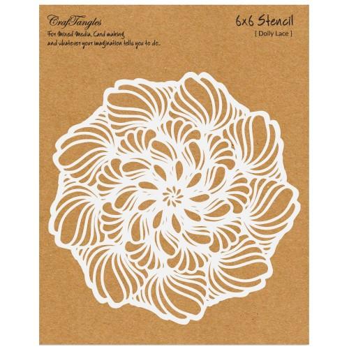 CrafTangles 6x6 Stencil - Doily Lace